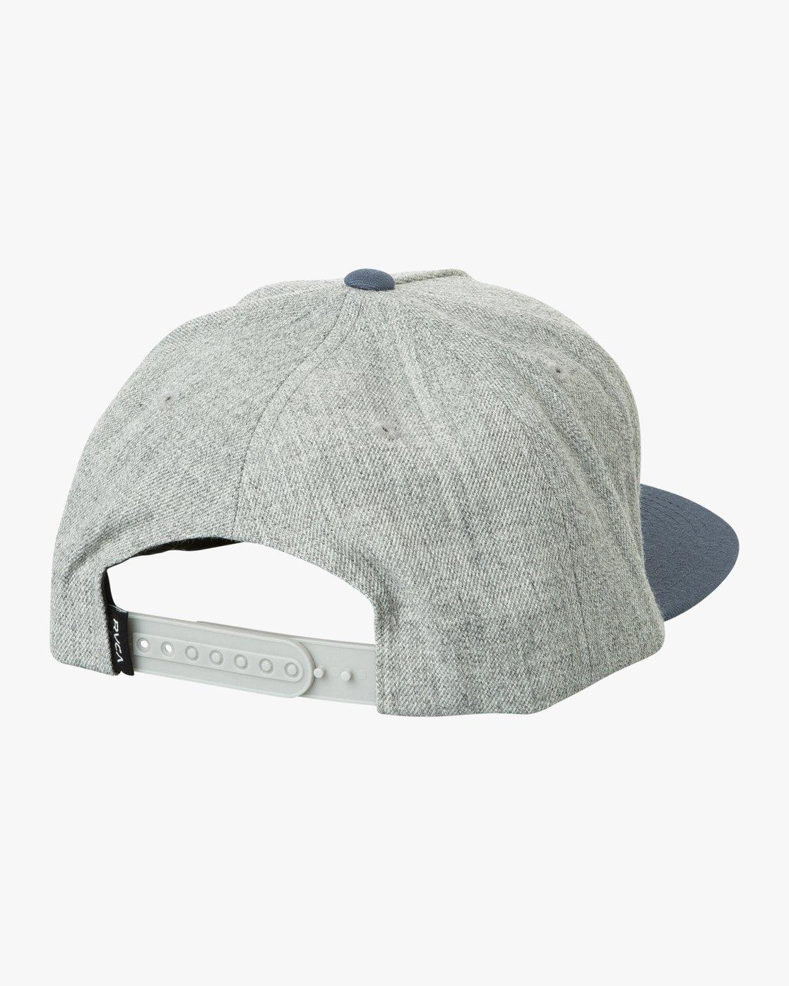 1 Camps Snapback Hat Grey MAHWTRCA RVCA