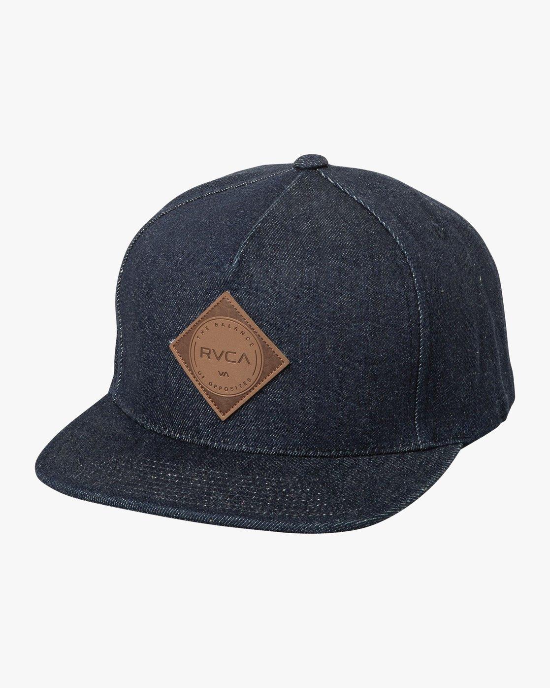 0 Camps Snapback Hat Blue MAHWTRCA RVCA