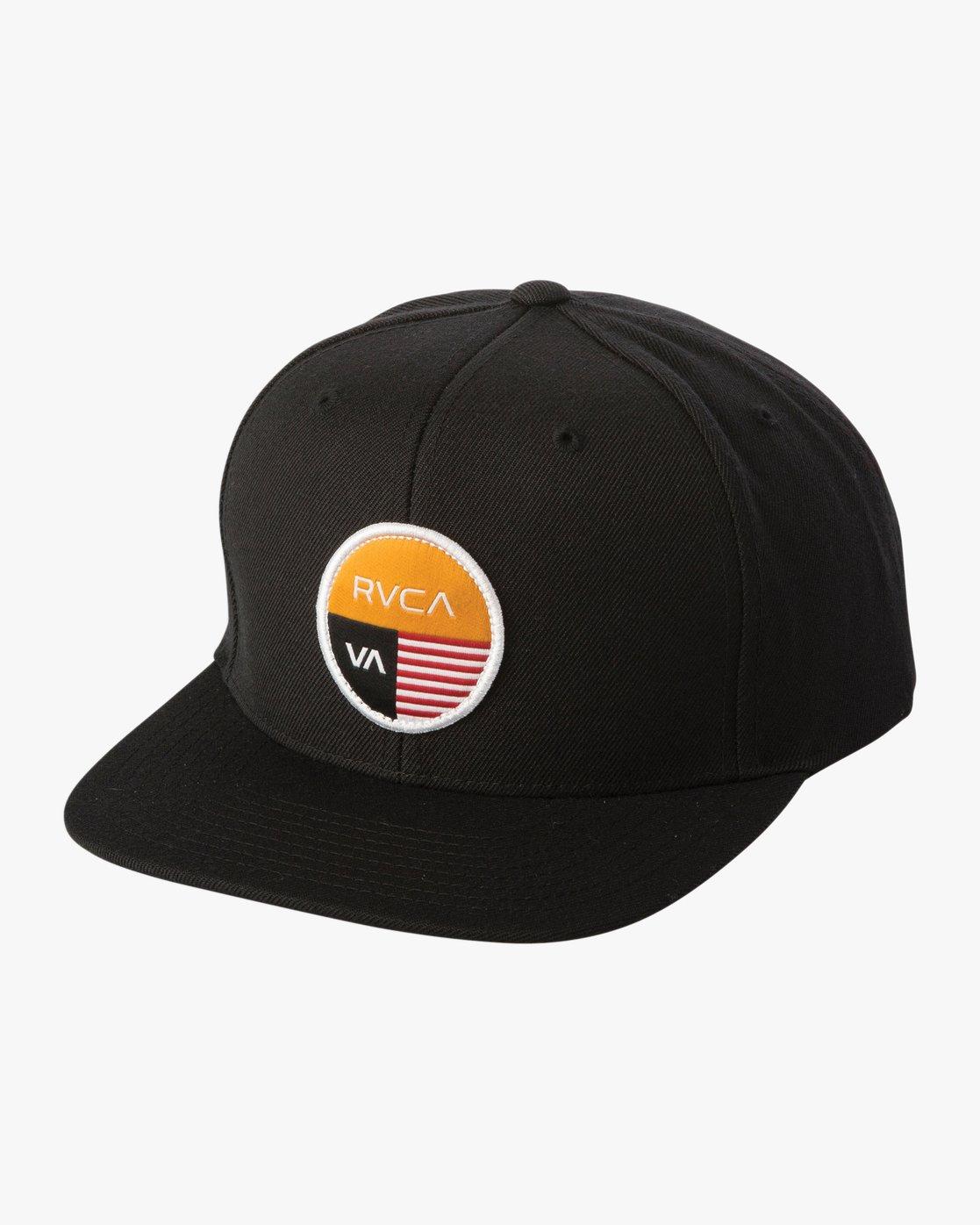 0 Diagram Snapback Hat Black MAHWTRDG RVCA
