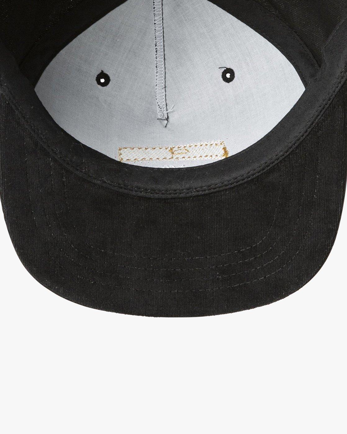 c018582bfec7d2 3 Everett Snapback Hat Black MAHWTREV RVCA