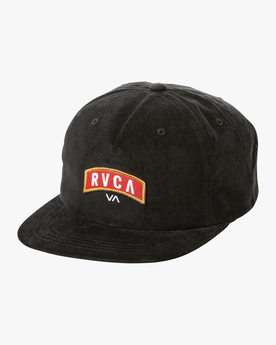 1e72153f1b10a5 0 Everett Snapback Hat Black MAHWTREV RVCA