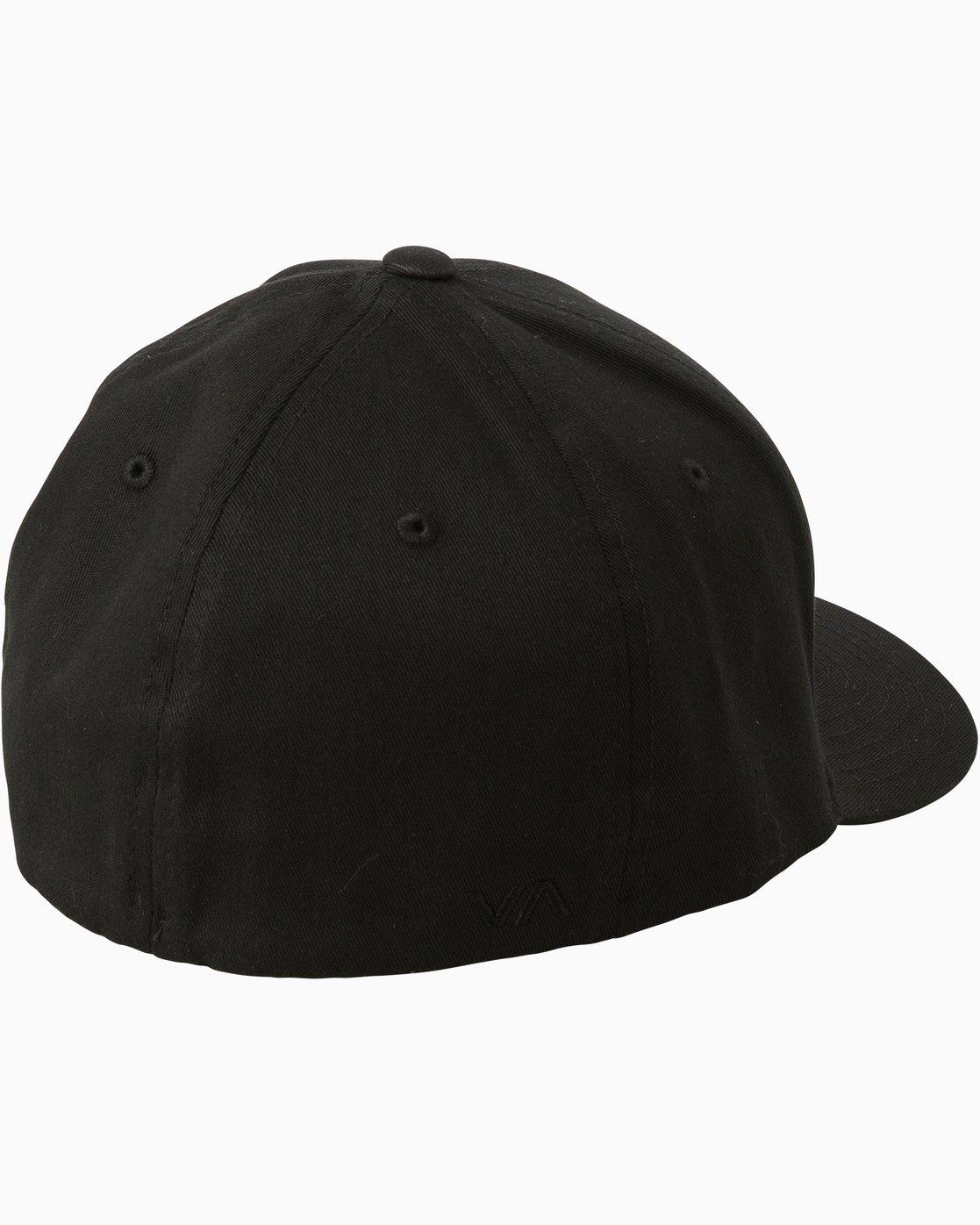 1 Scores Flexfit Hat Black MAHWTRSC RVCA