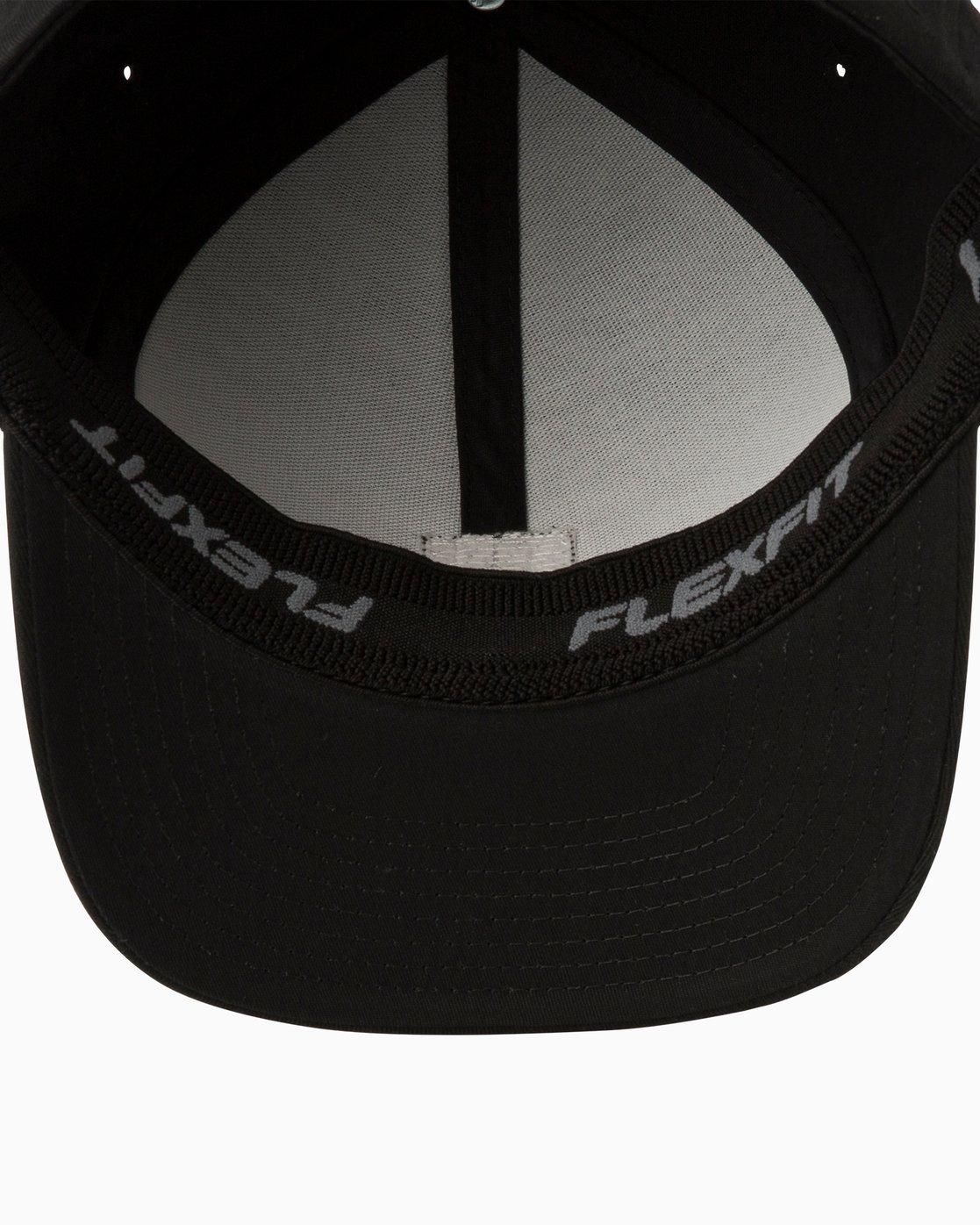60de37a6 2 Scores Flexfit Hat Black MAHWTRSC RVCA