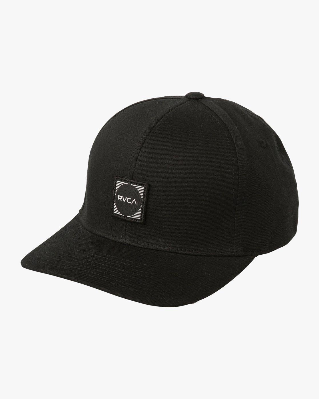 0 Scores Flexfit Hat Black MAHWTRSC RVCA