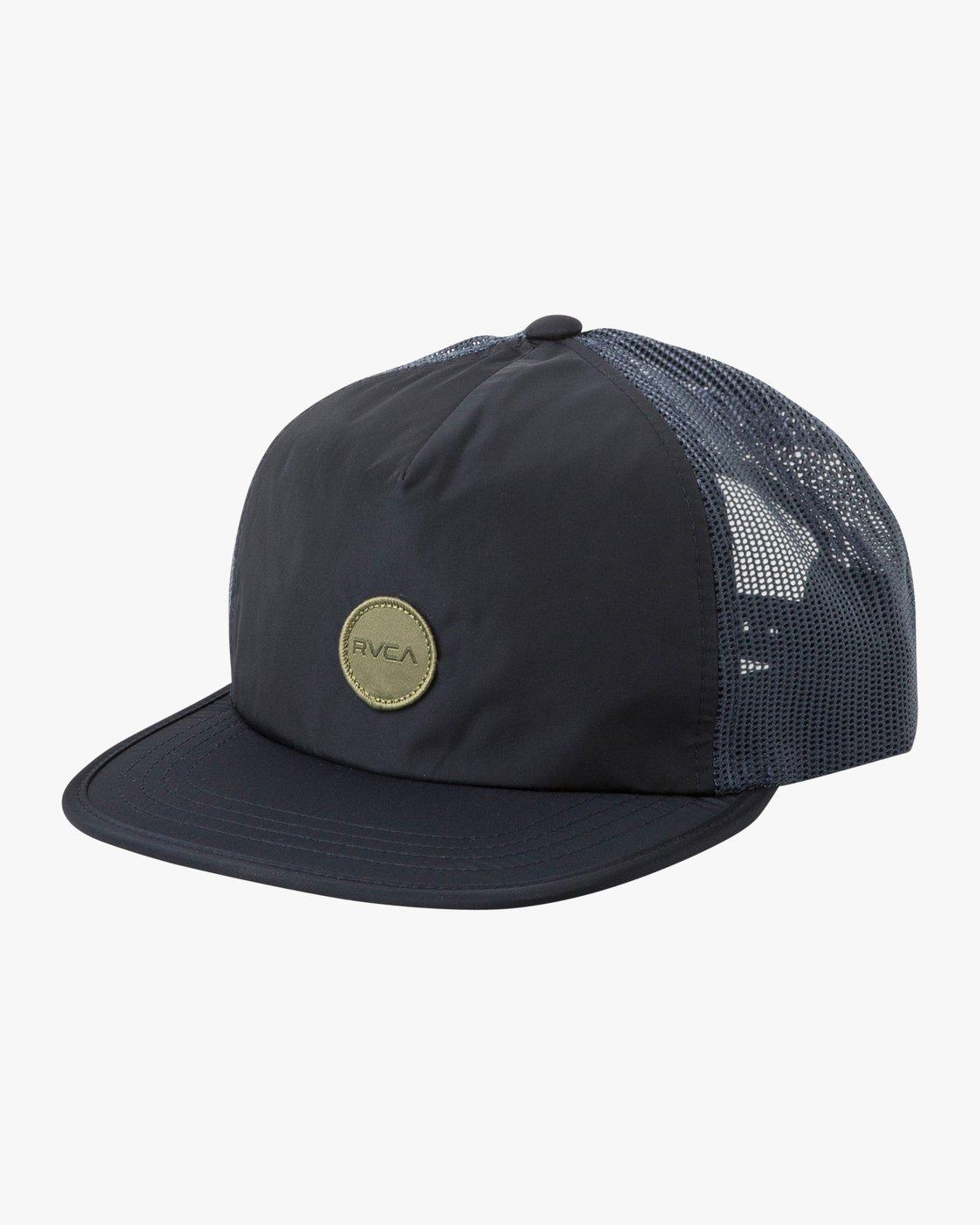 0 Travel Trucker Hat Blue MAHWTRTT RVCA