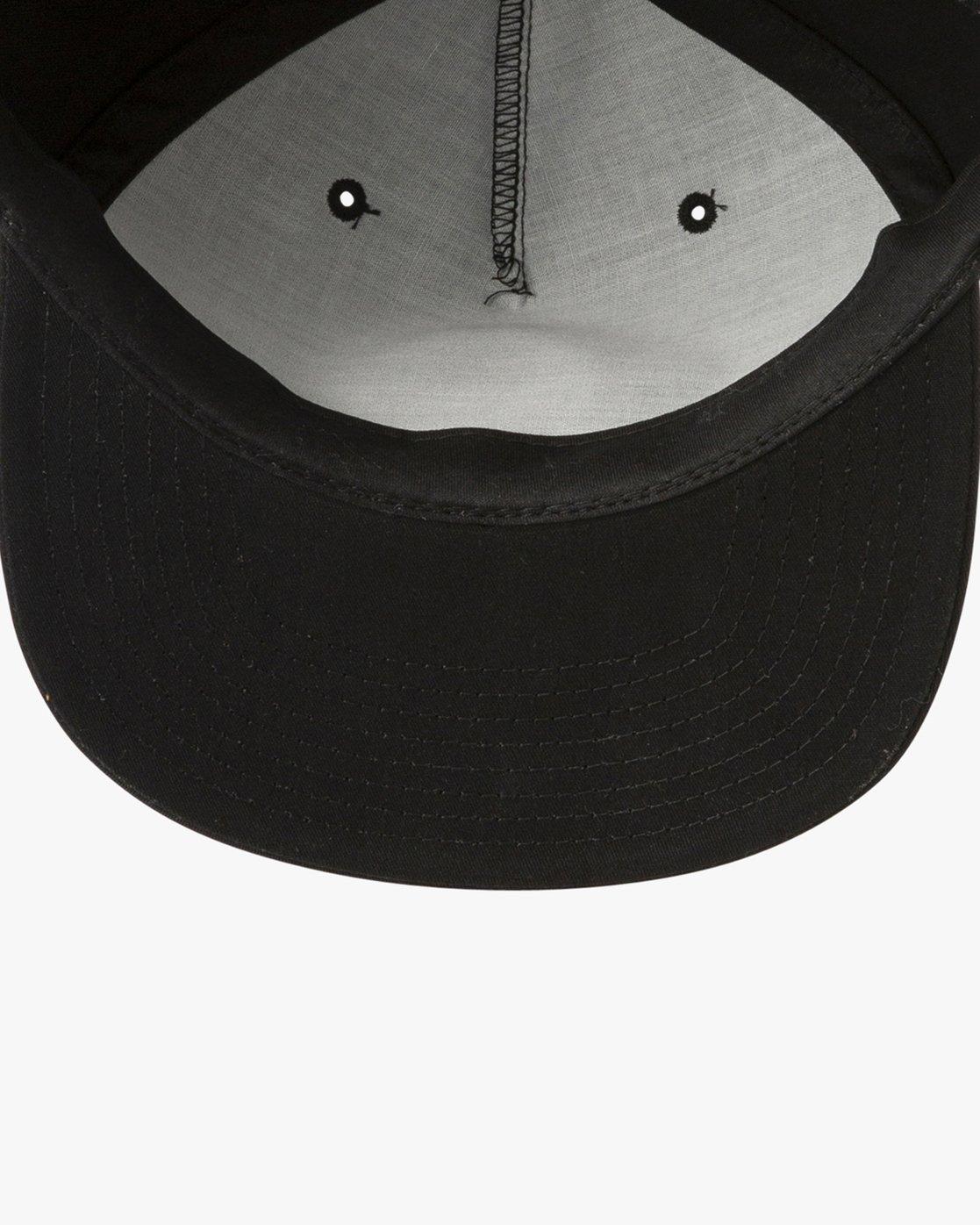 2 AR Lottie Strapback Hat Black MAHWURAF RVCA