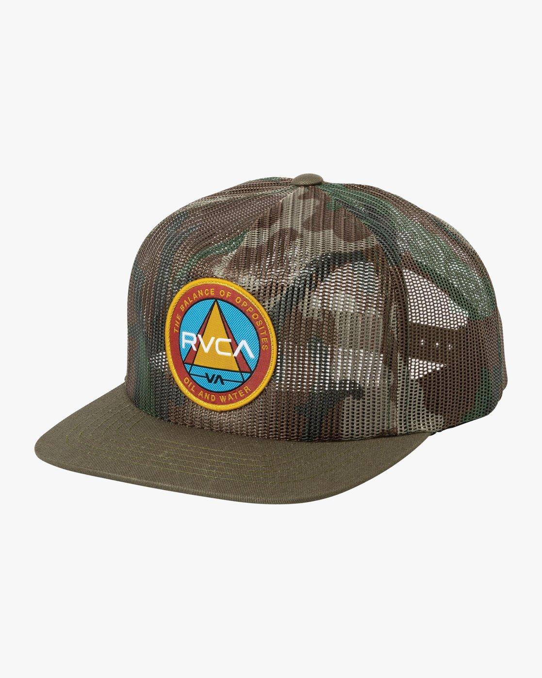 0 Pyramid Scheme Trucker Hat Camo MAHWURAT RVCA