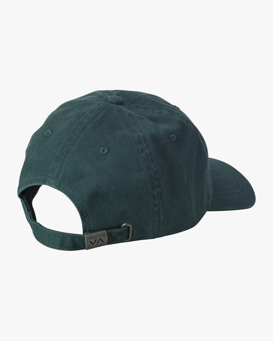 1 Crest Strapback Hat Grey MAHWURCC RVCA