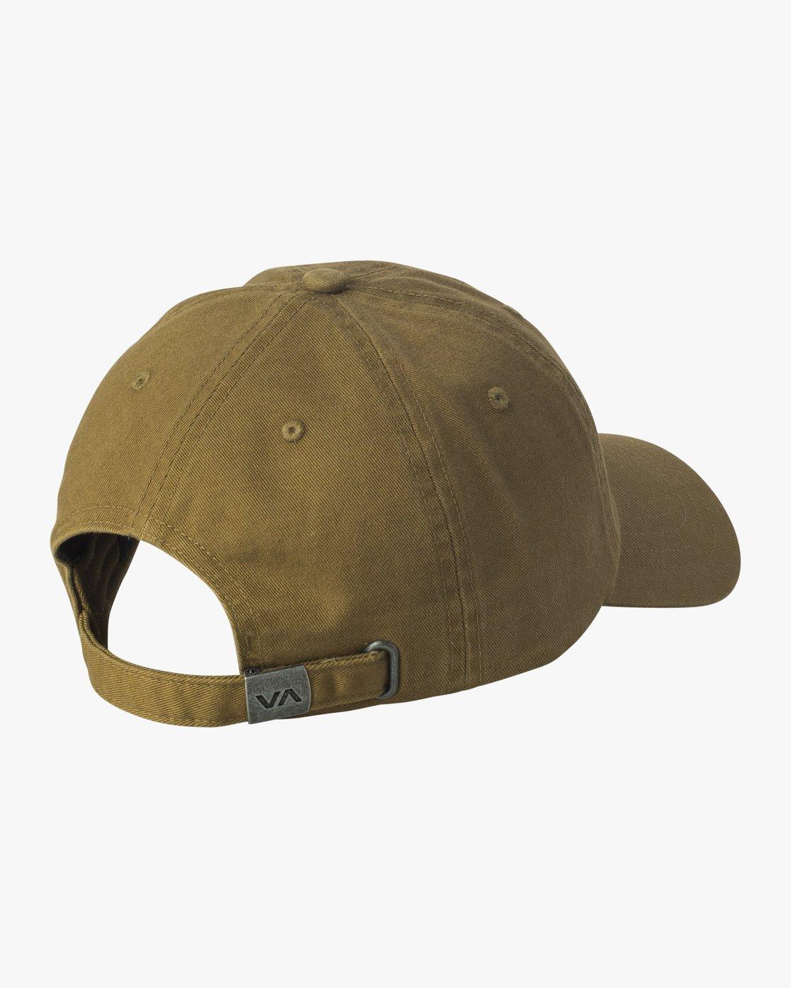 1 Crest Strapback Hat Beige MAHWURCC RVCA