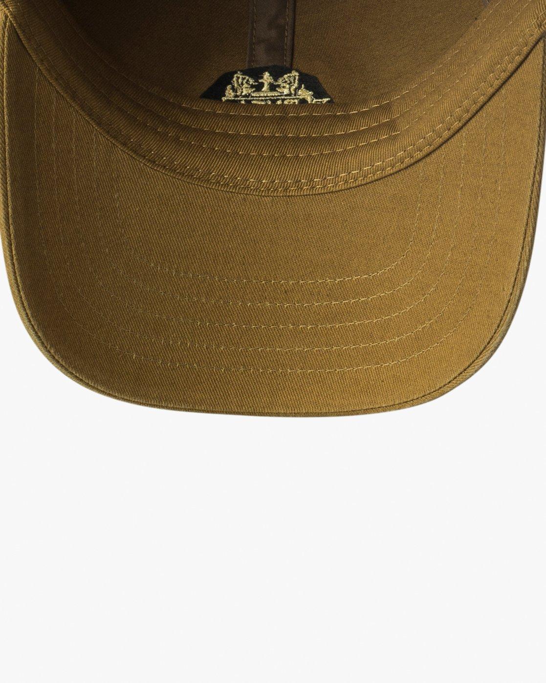 2 Crest Strapback Hat Beige MAHWURCC RVCA
