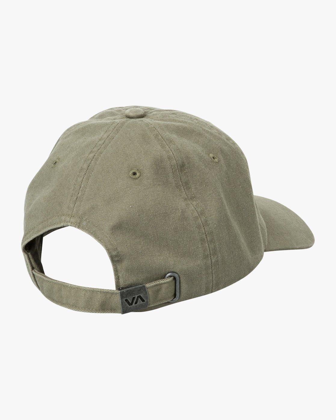 1 Crest Strapback Hat Green MAHWURCC RVCA