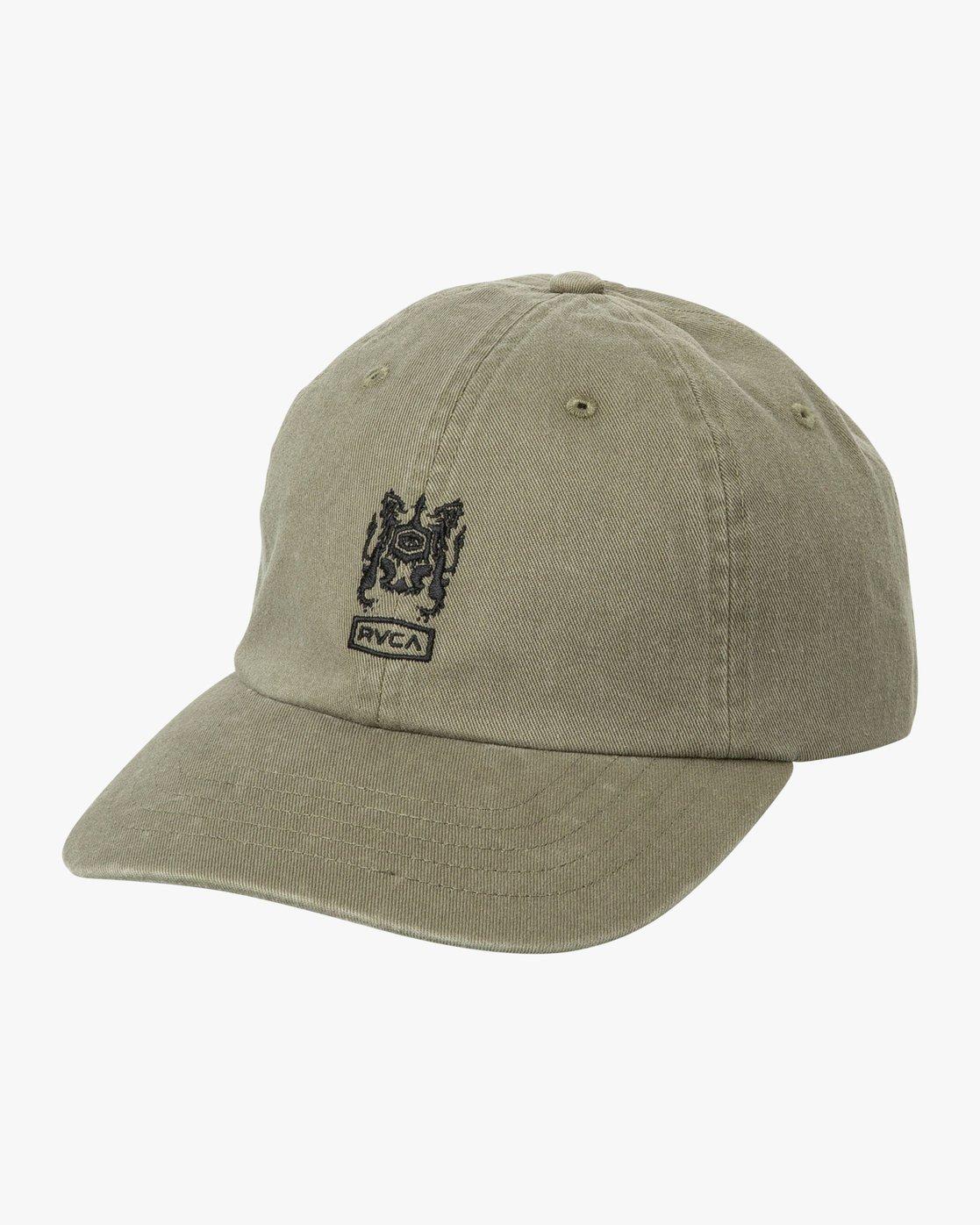 0 Crest Strapback Hat Green MAHWURCC RVCA