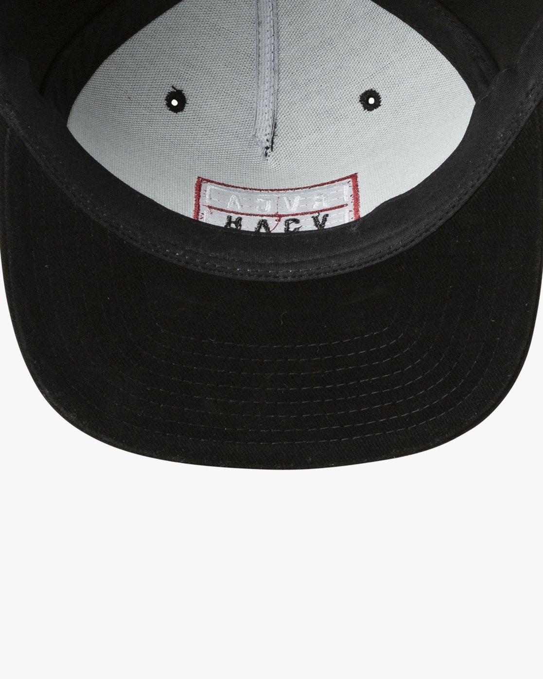2 Hazard Snapback Hat Black MAHWURHS RVCA