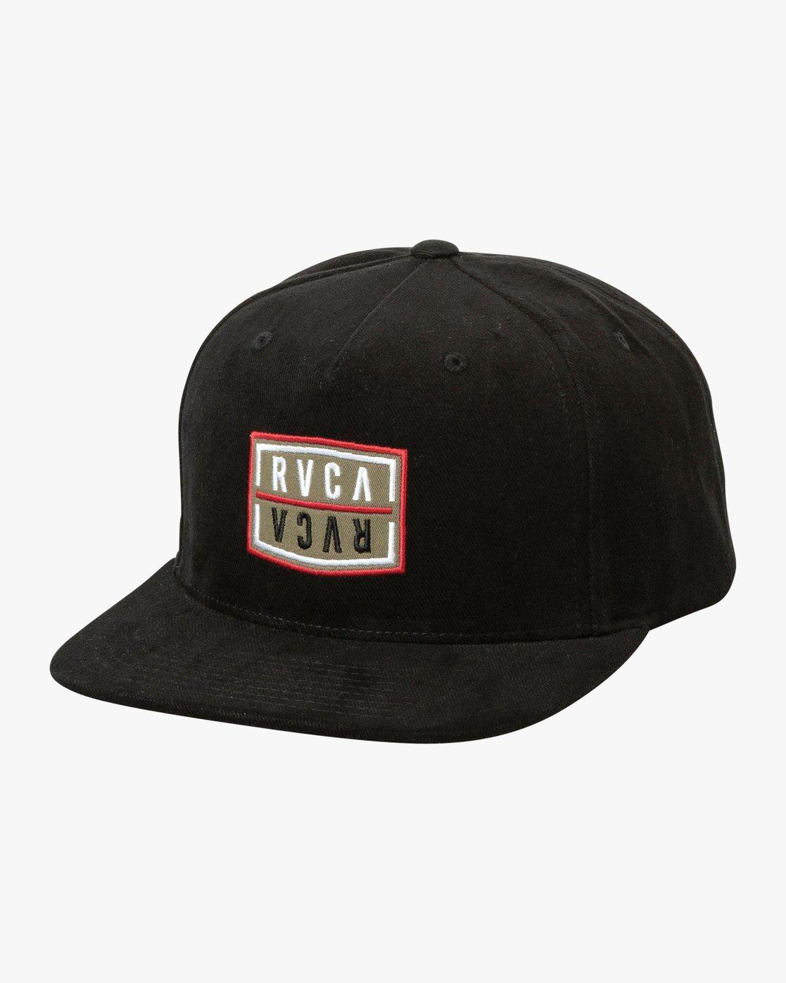0 Hazard Snapback Hat Black MAHWURHS RVCA