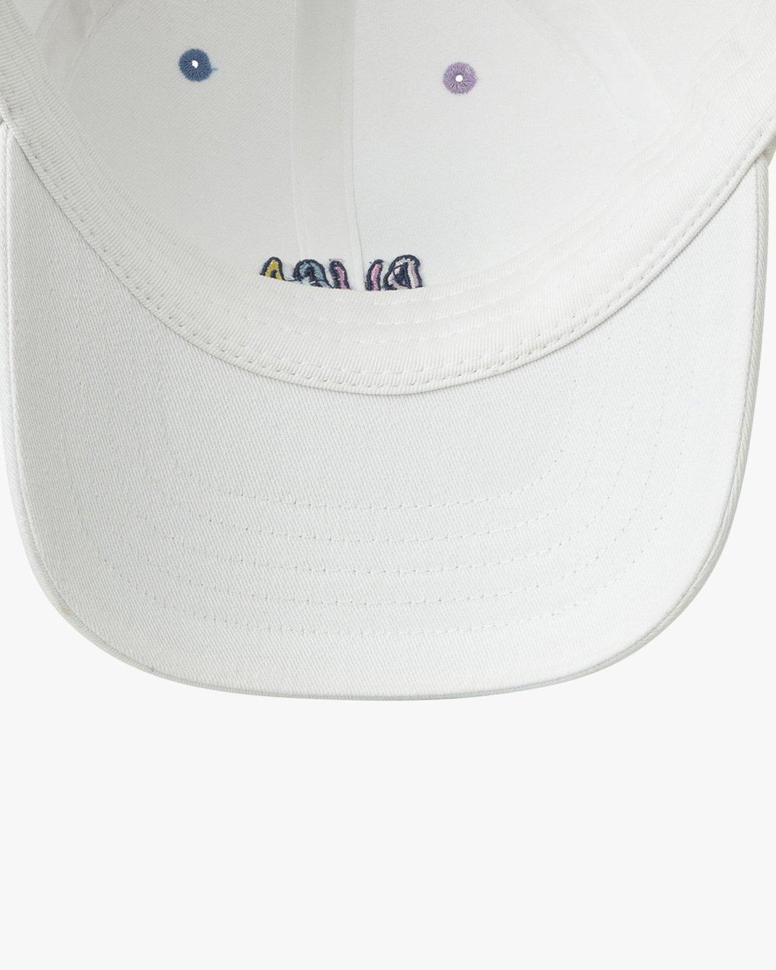 2 Kristen LW Strapback Hat White MAHWURKW RVCA