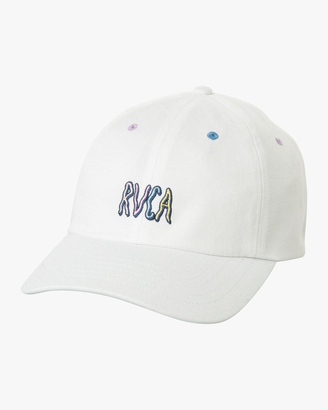 0 Kristen LW Strapback Hat White MAHWURKW RVCA
