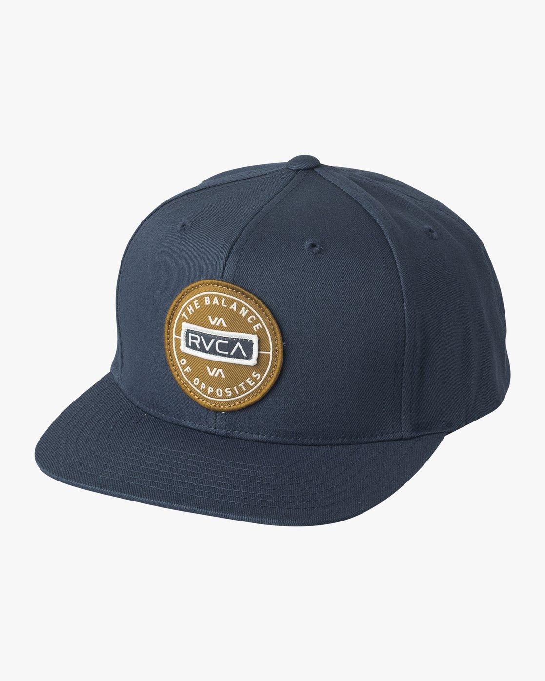 0 Navigate Snapback Hat Blue MAHWURNA RVCA