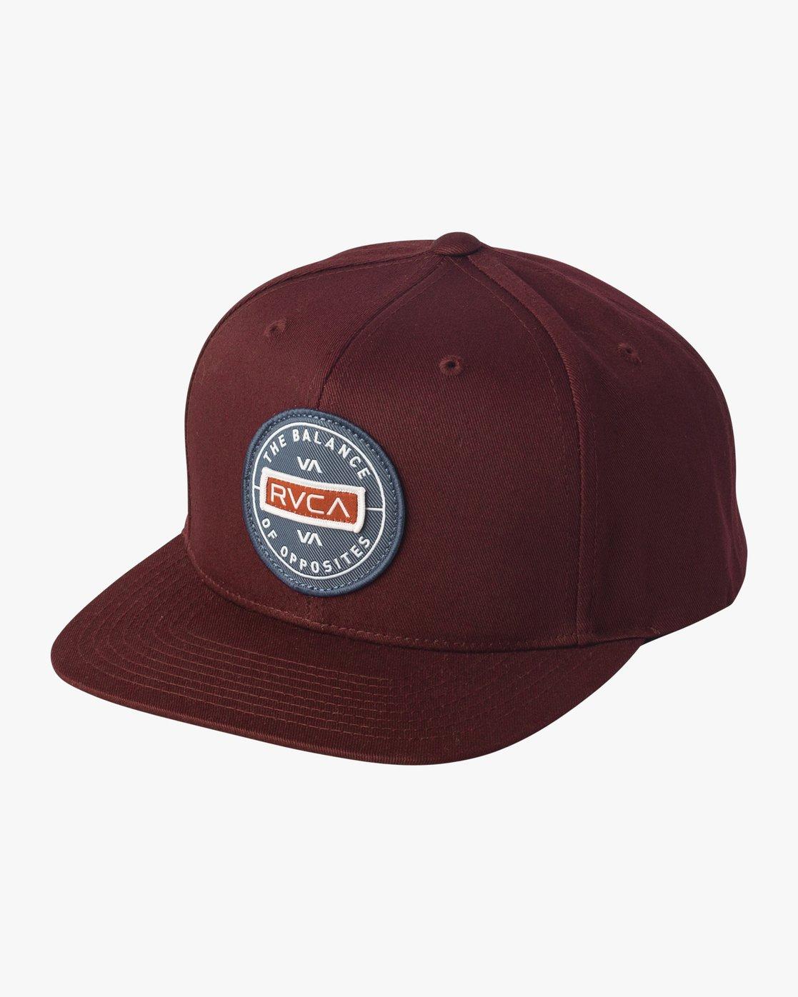 0 Navigate Snapback Hat Red MAHWURNA RVCA