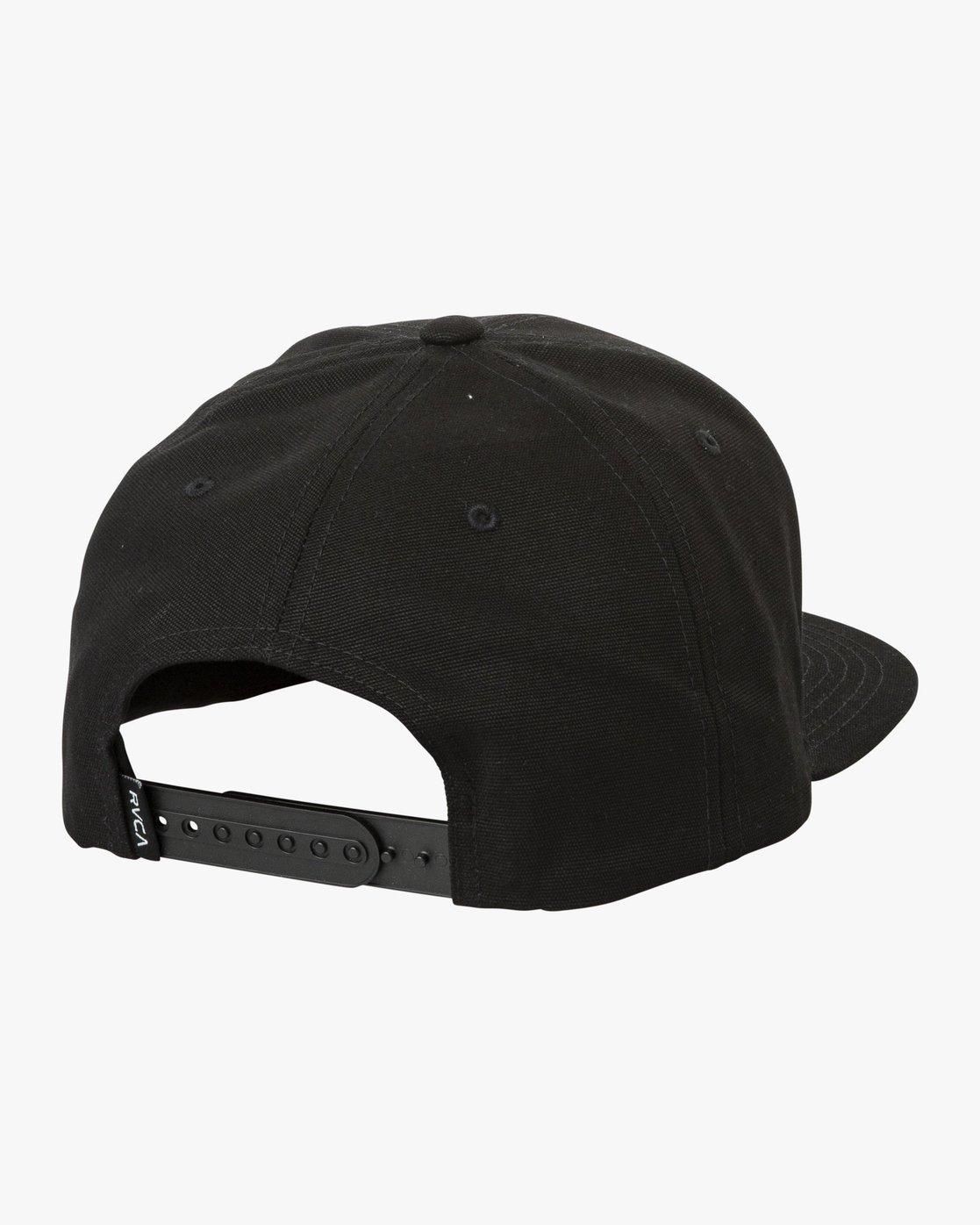 1 Tropics Snapback Hat Black MAHWURRT RVCA