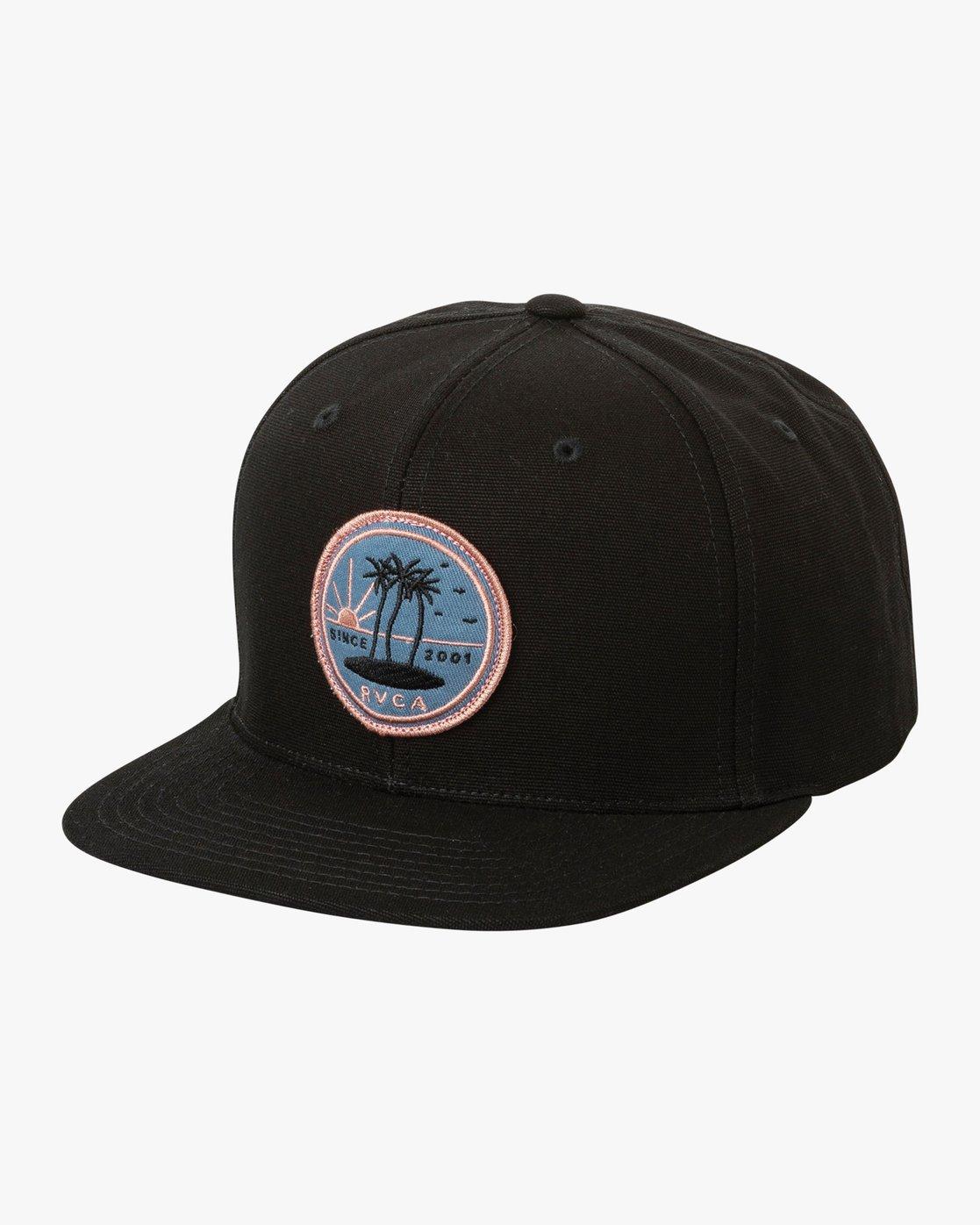 0 Tropics Snapback Hat Black MAHWURRT RVCA
