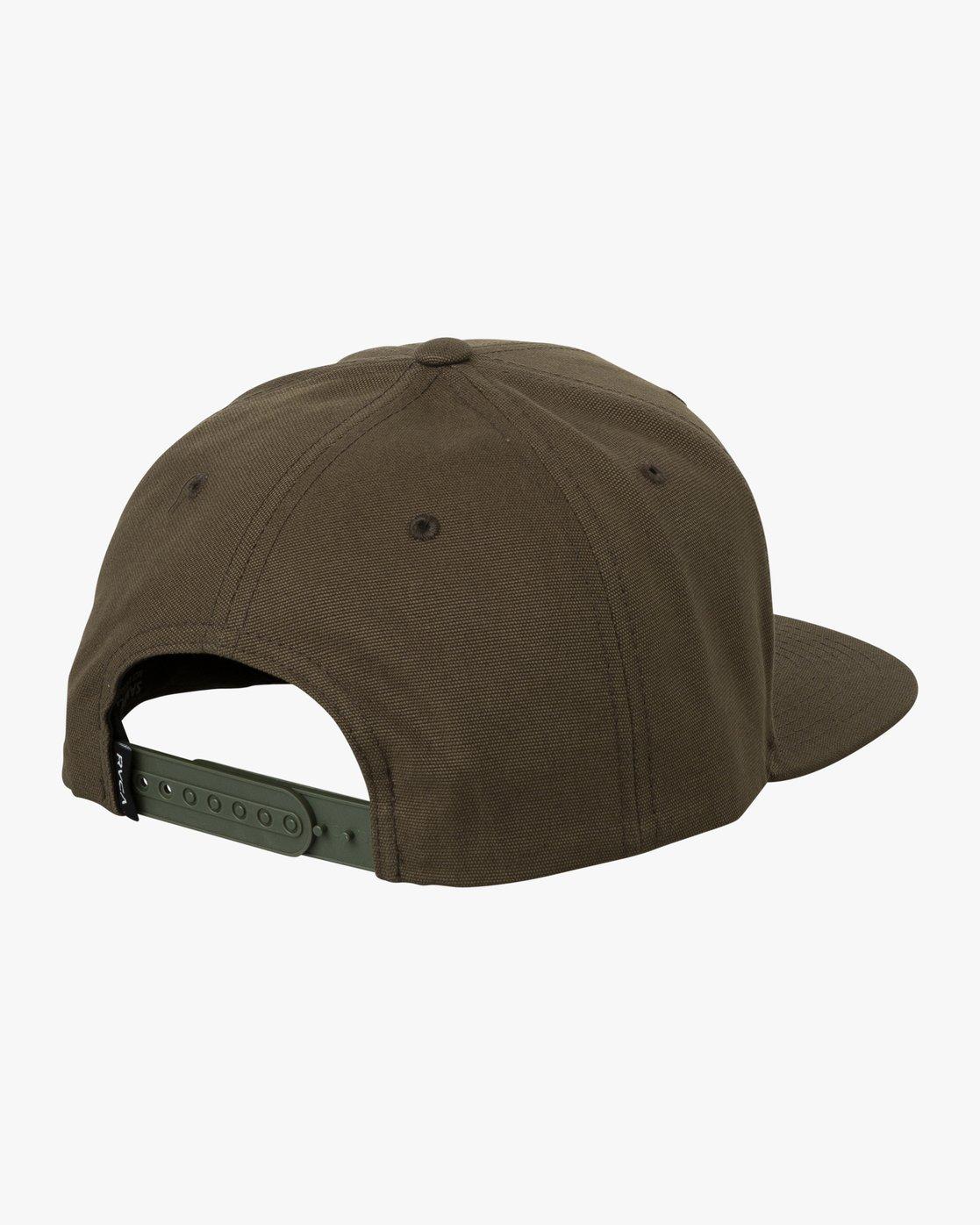 1 Tropics Snapback Hat Brown MAHWURRT RVCA
