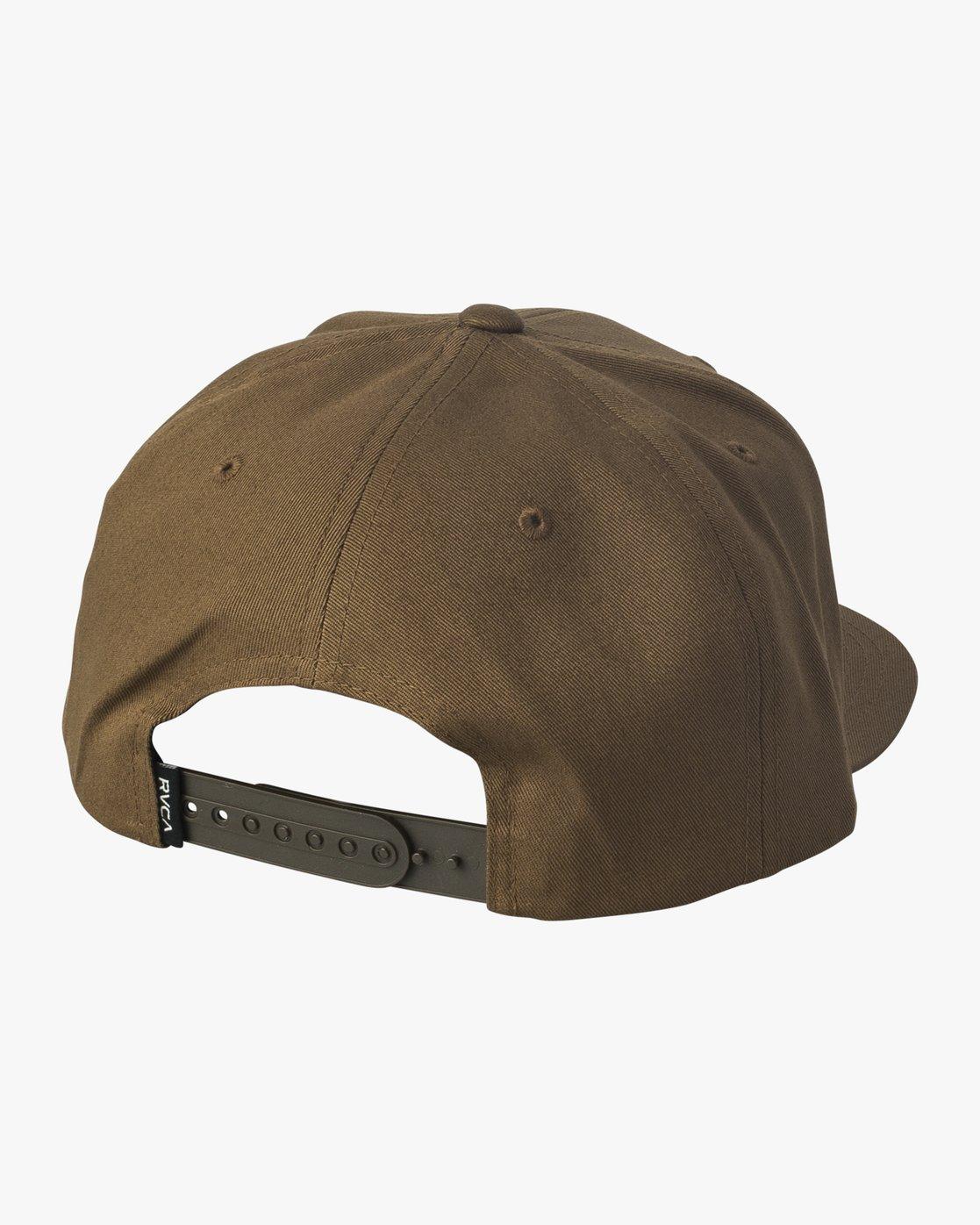 1 Den Snapback Hat Brown MAHWVRDS RVCA