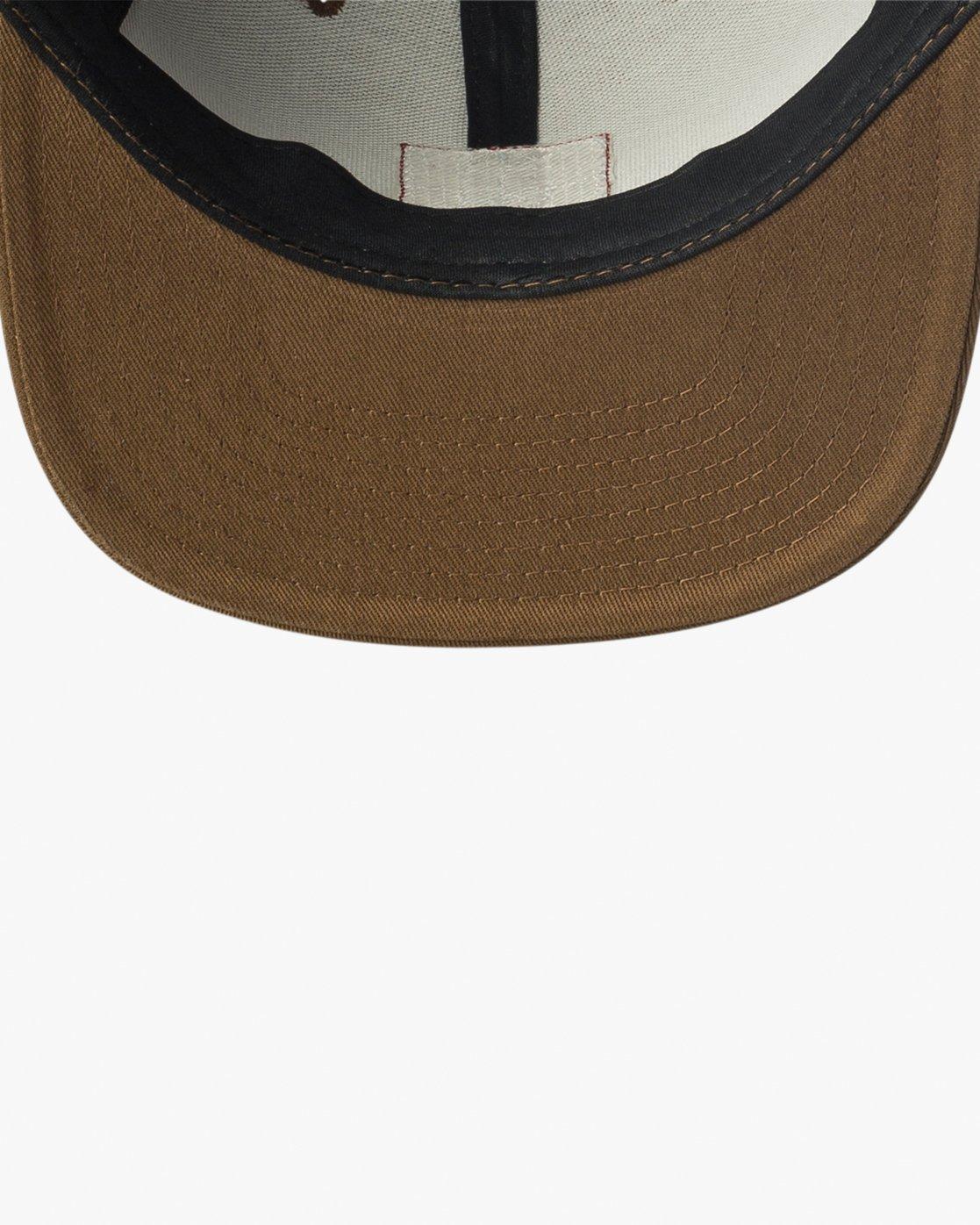 2 Den Snapback Hat Brown MAHWVRDS RVCA