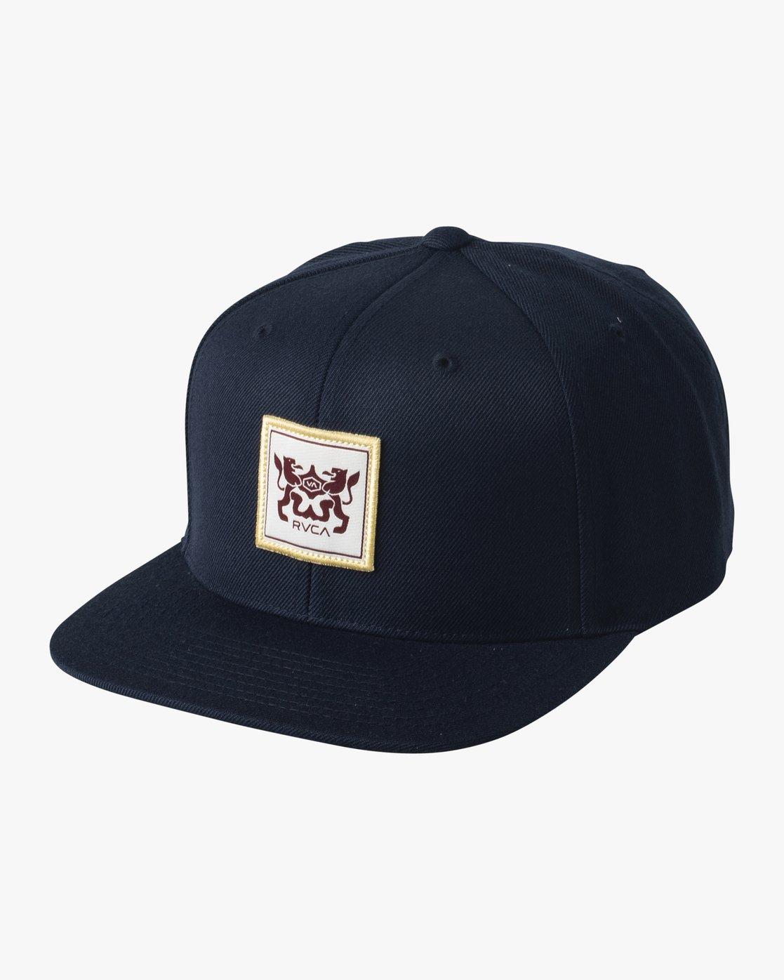 0 Den Snapback Hat Blue MAHWVRDS RVCA