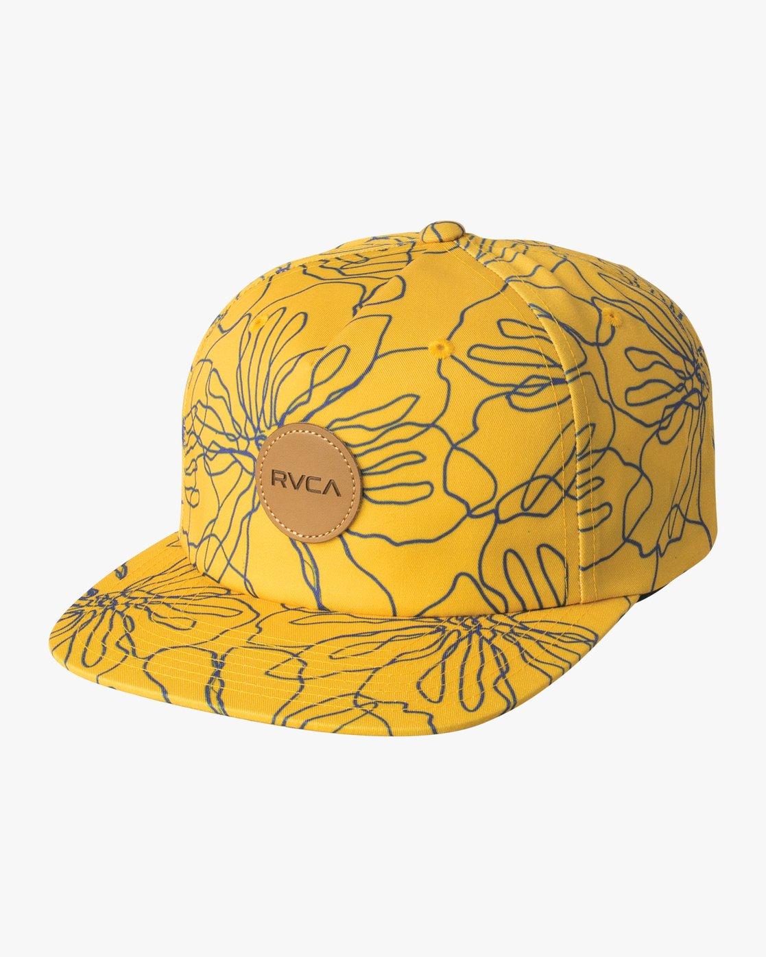 0 Leaves Strapback Hat Orange MAHWVRLV RVCA