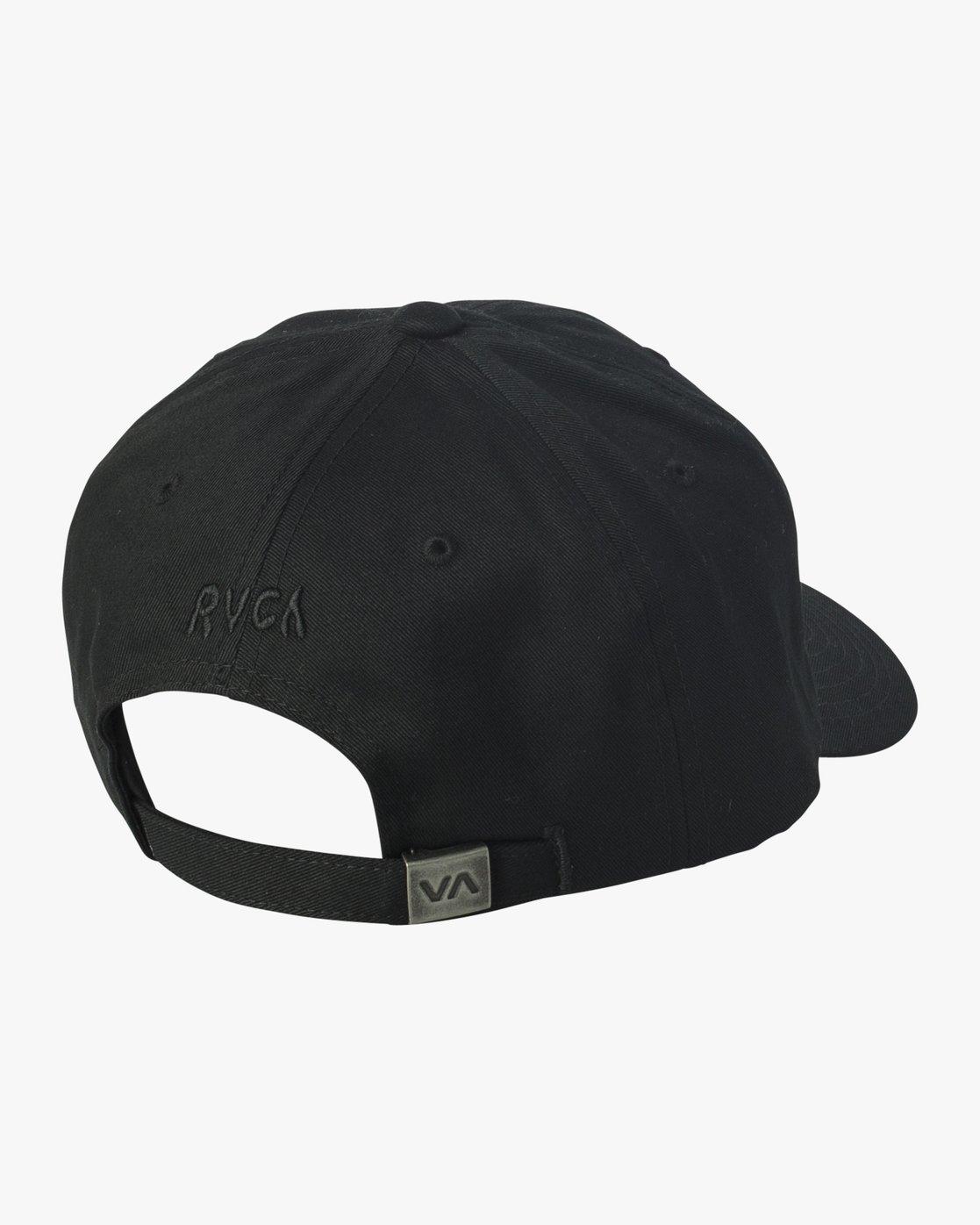1 Mel G Strapback Hat Black MAHWVRMG RVCA
