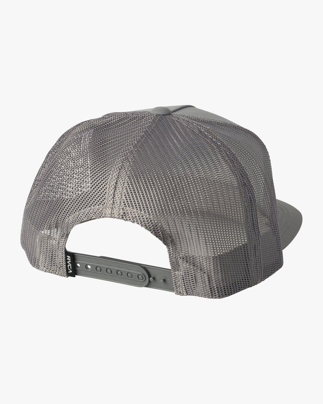 1 RVCA Sphere Trucker Hat Grey MAHWVRRS RVCA