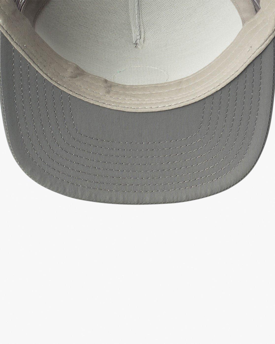 2 RVCA Sphere Trucker Hat Grey MAHWVRRS RVCA
