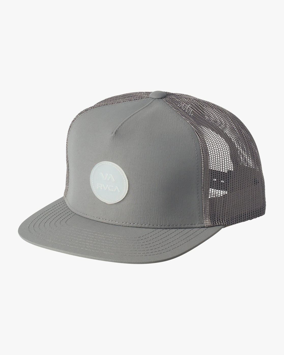 0 RVCA Sphere Trucker Hat Grey MAHWVRRS RVCA