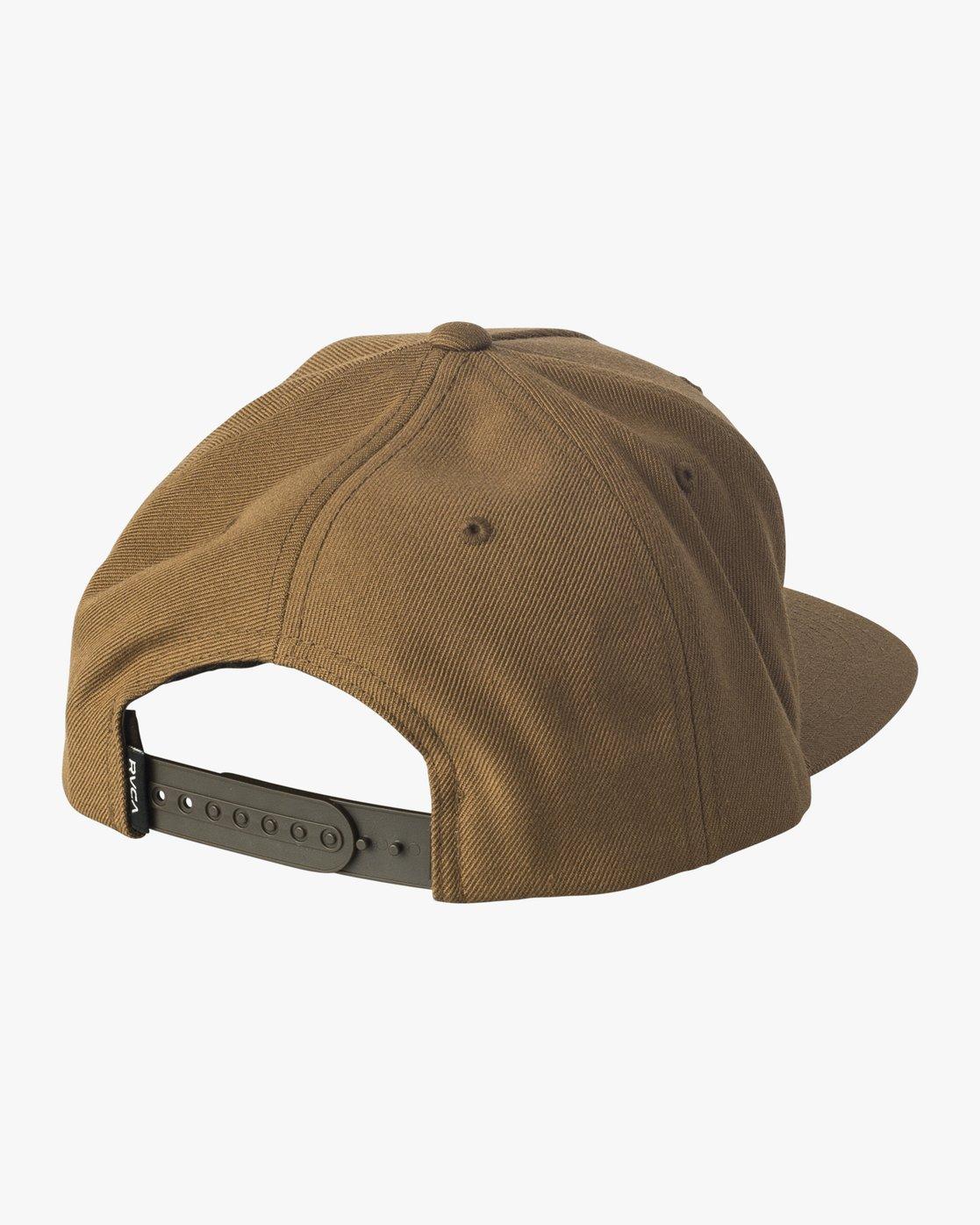 1 Script Snapback Hat Brown MAHWVRSP RVCA