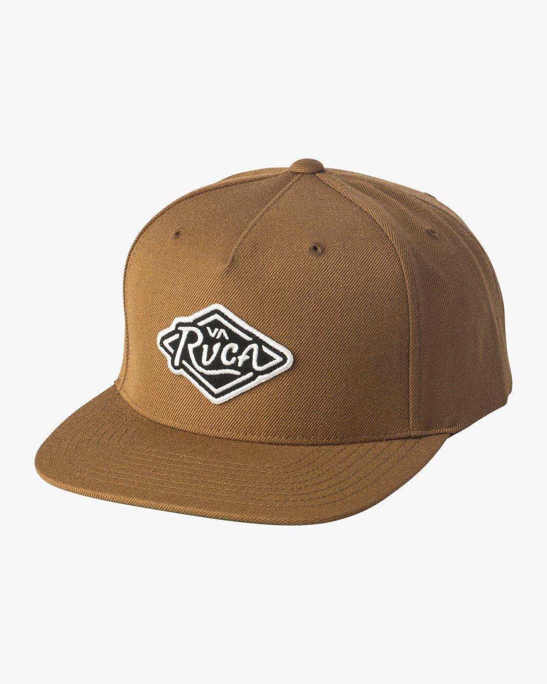 0 Script Snapback Hat Brown MAHWVRSP RVCA