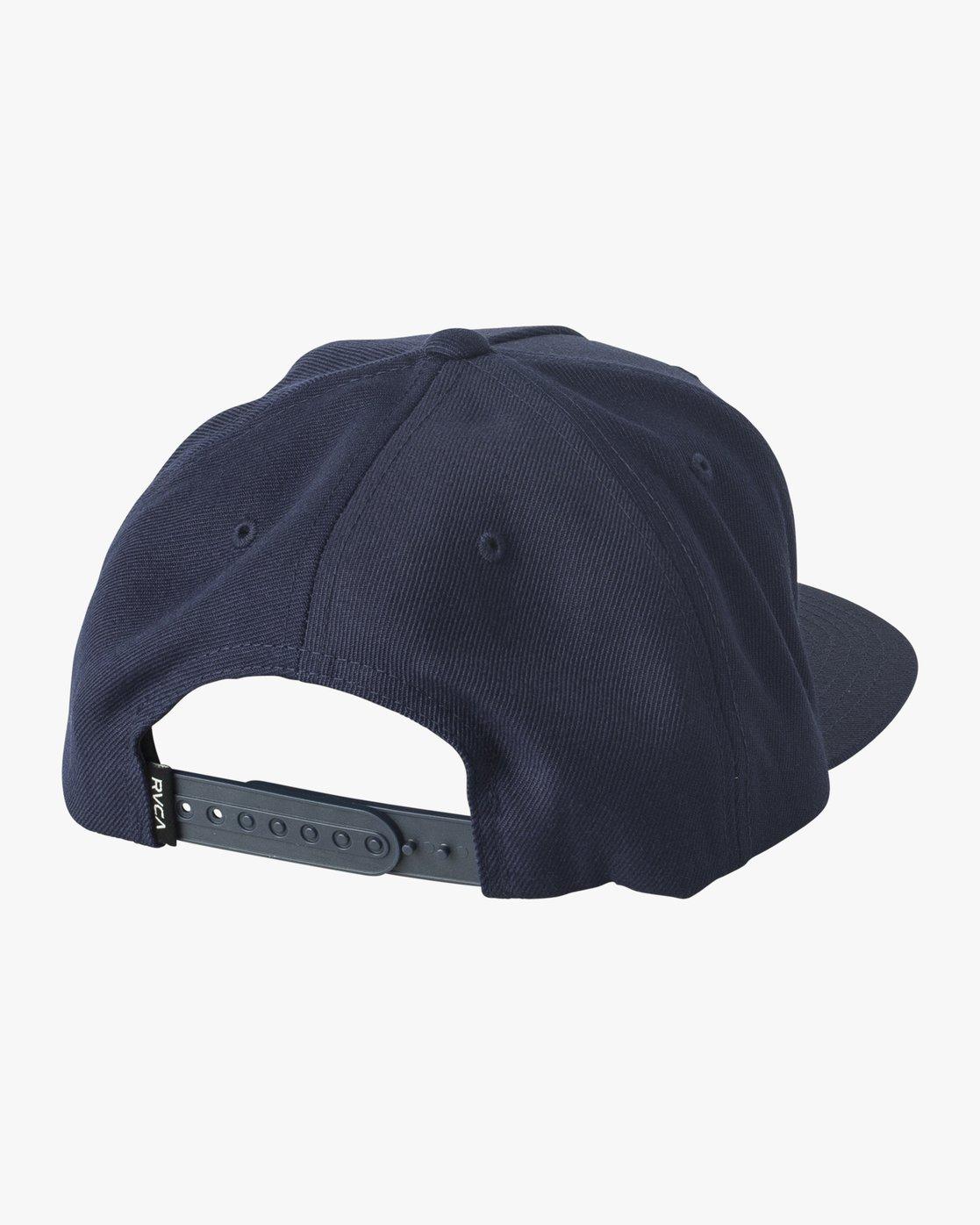1 Script Snapback Hat Blue MAHWVRSP RVCA