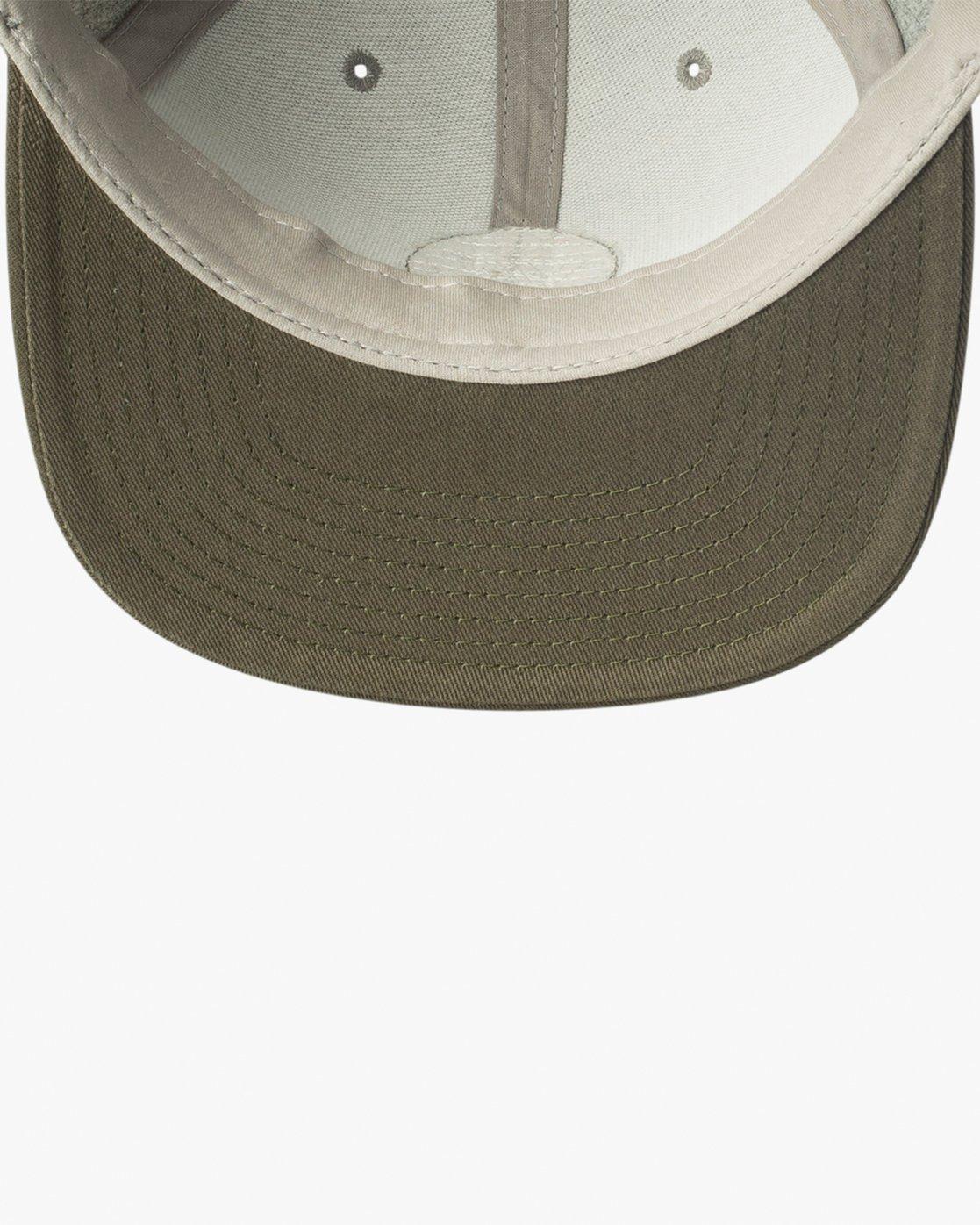 2 VA Patch Snapback Hat Grey MAHWVRVP RVCA