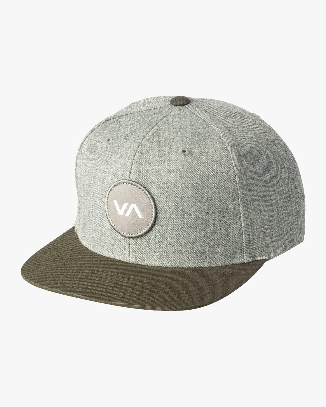 0 VA Patch Snapback Hat Grey MAHWVRVP RVCA