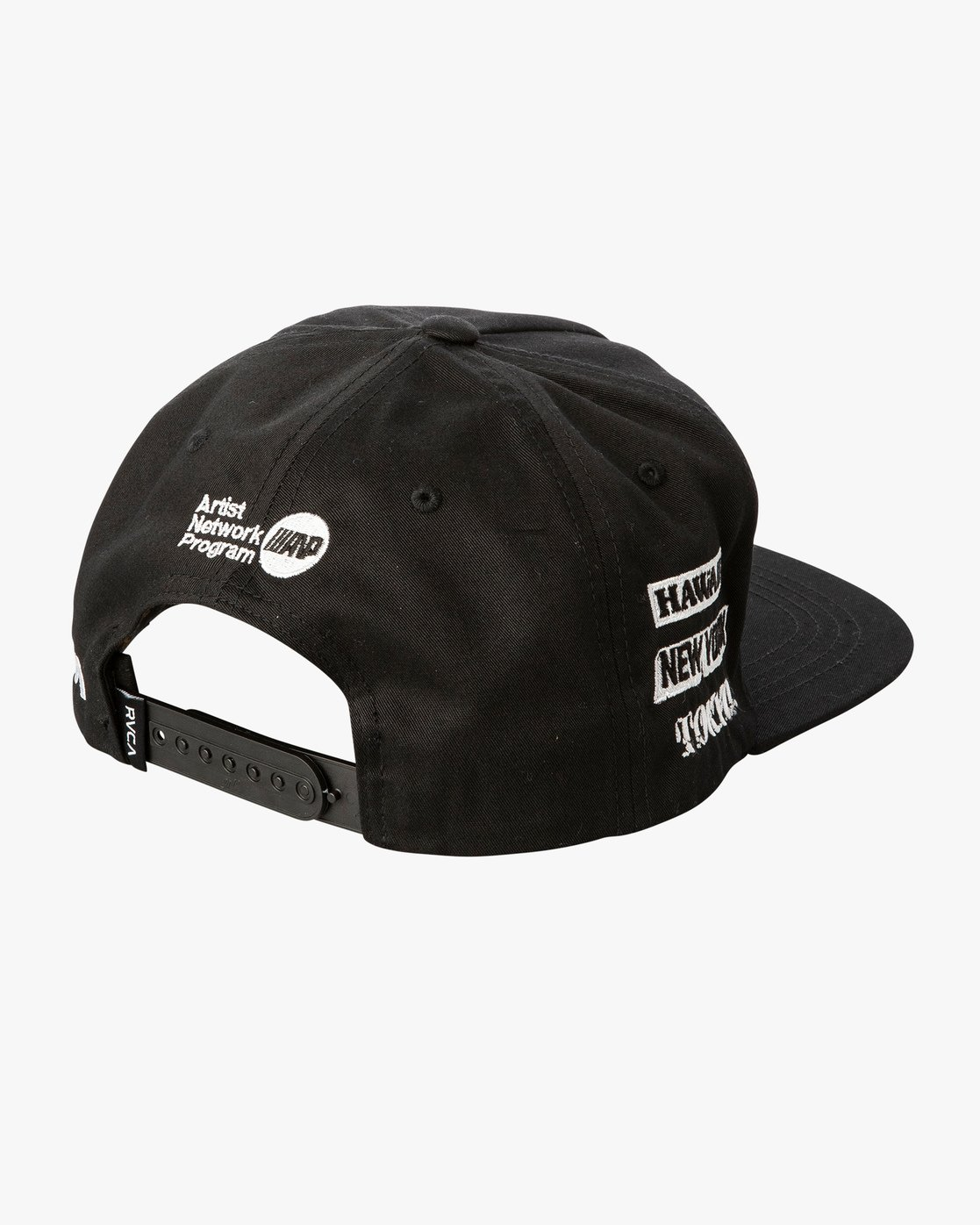 4 World Tour Tokyo Snapback Hat Black MAHWVRWH RVCA