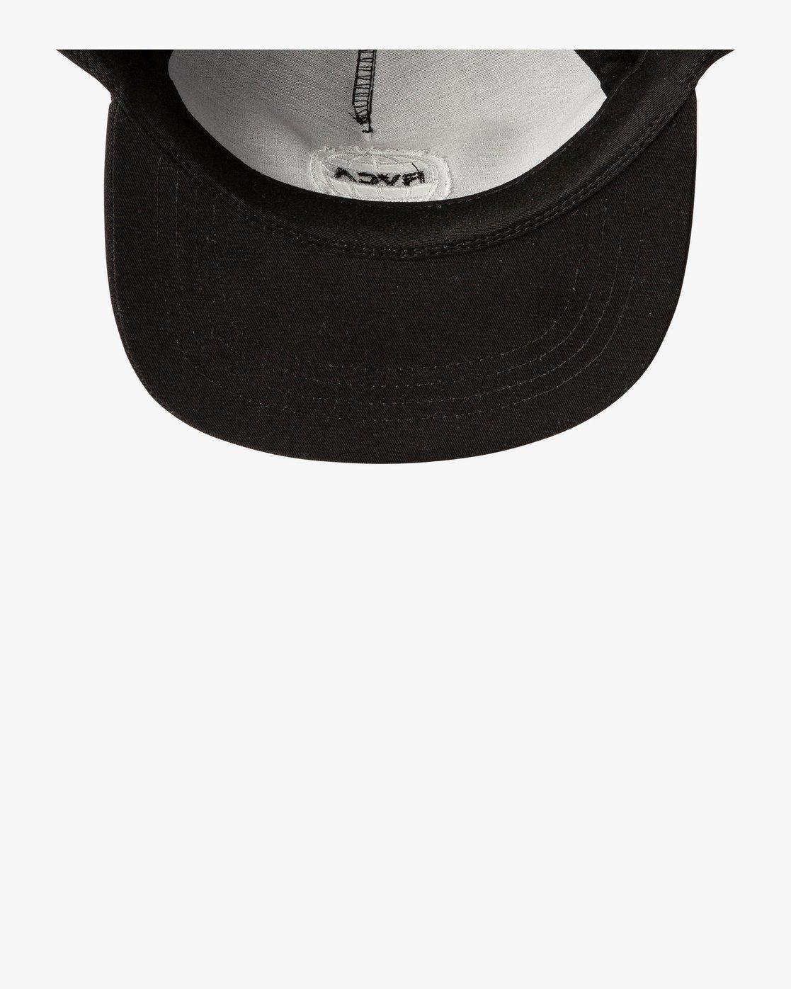 5 World Tour Tokyo Snapback Hat Black MAHWVRWH RVCA