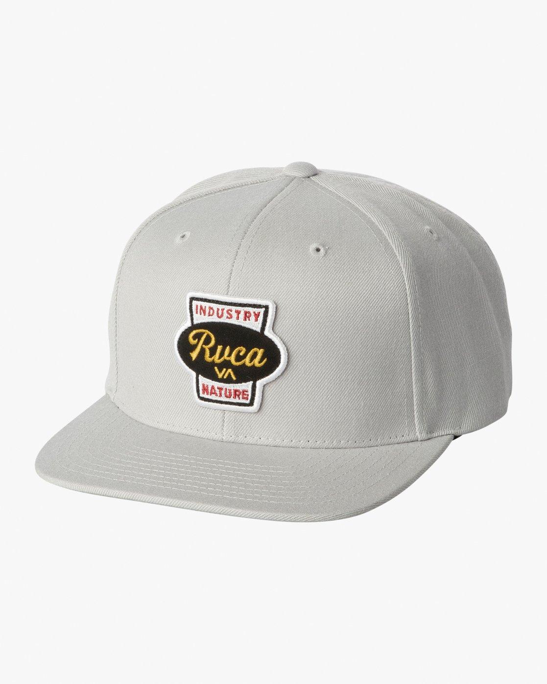 0 Decca Snapback Hat Grey MAHWWRDS RVCA