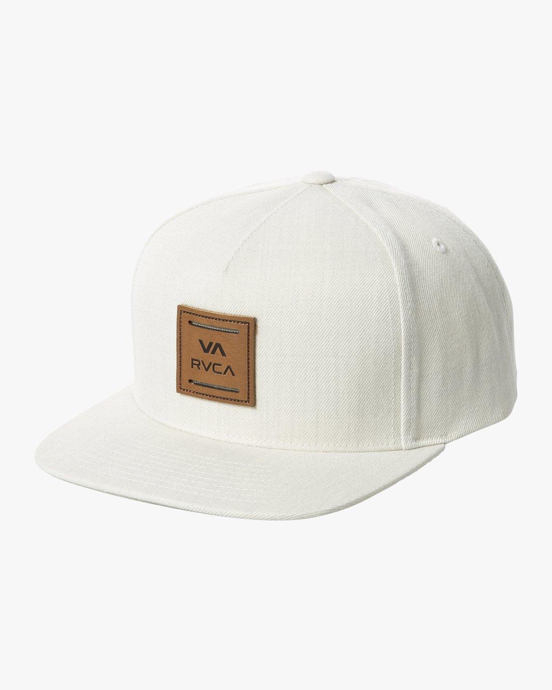 0 VA ALL THE WAY SNAPBACK HAT White MAHWWRVS RVCA