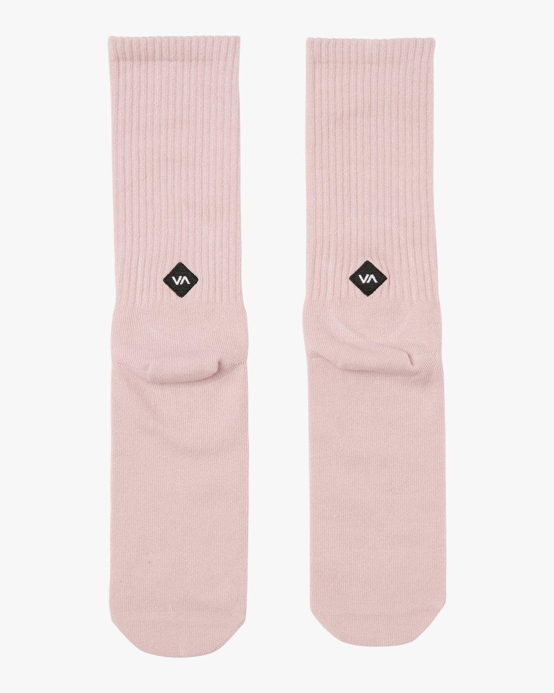 0 RVCA Wash Crew Socks Pink MASOQRWS RVCA