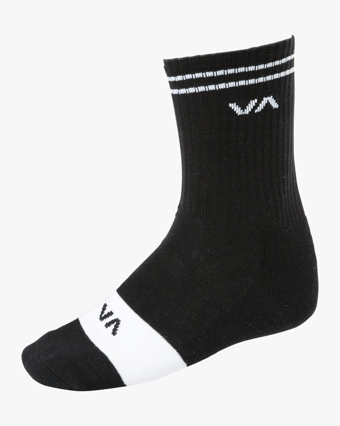 1 Union Skate Crew Socks Black MASOTRUK RVCA