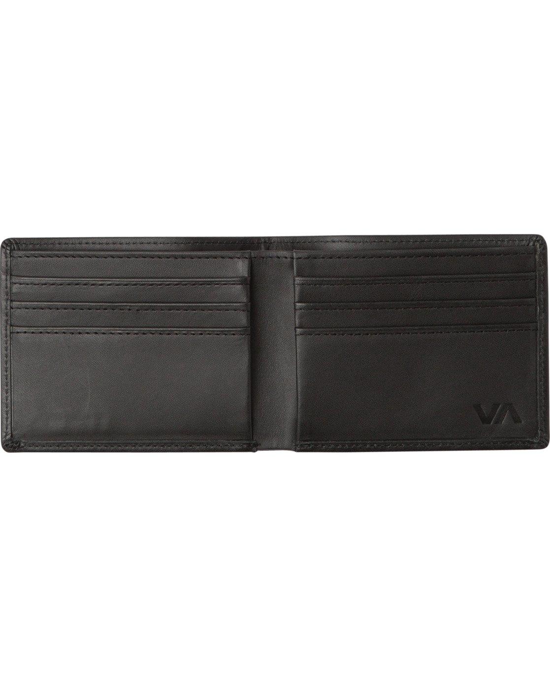 2 Crest Bifold Wallet Black MAWAQRCB RVCA