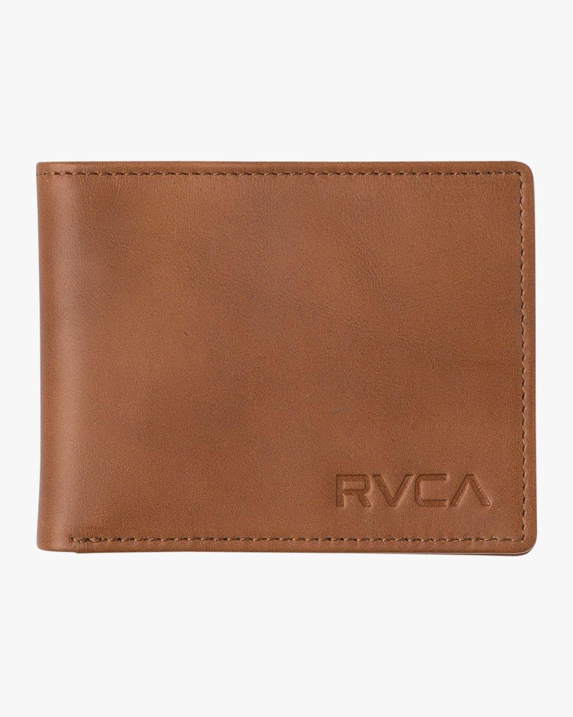 2 Crest Bifold Wallet Beige MAWAQRCB RVCA