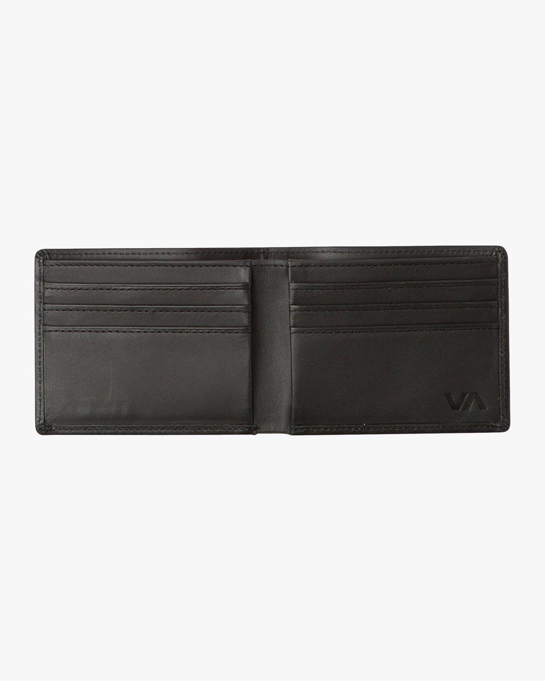 1 Crest Bifold Wallet Black MAWAQRCB RVCA