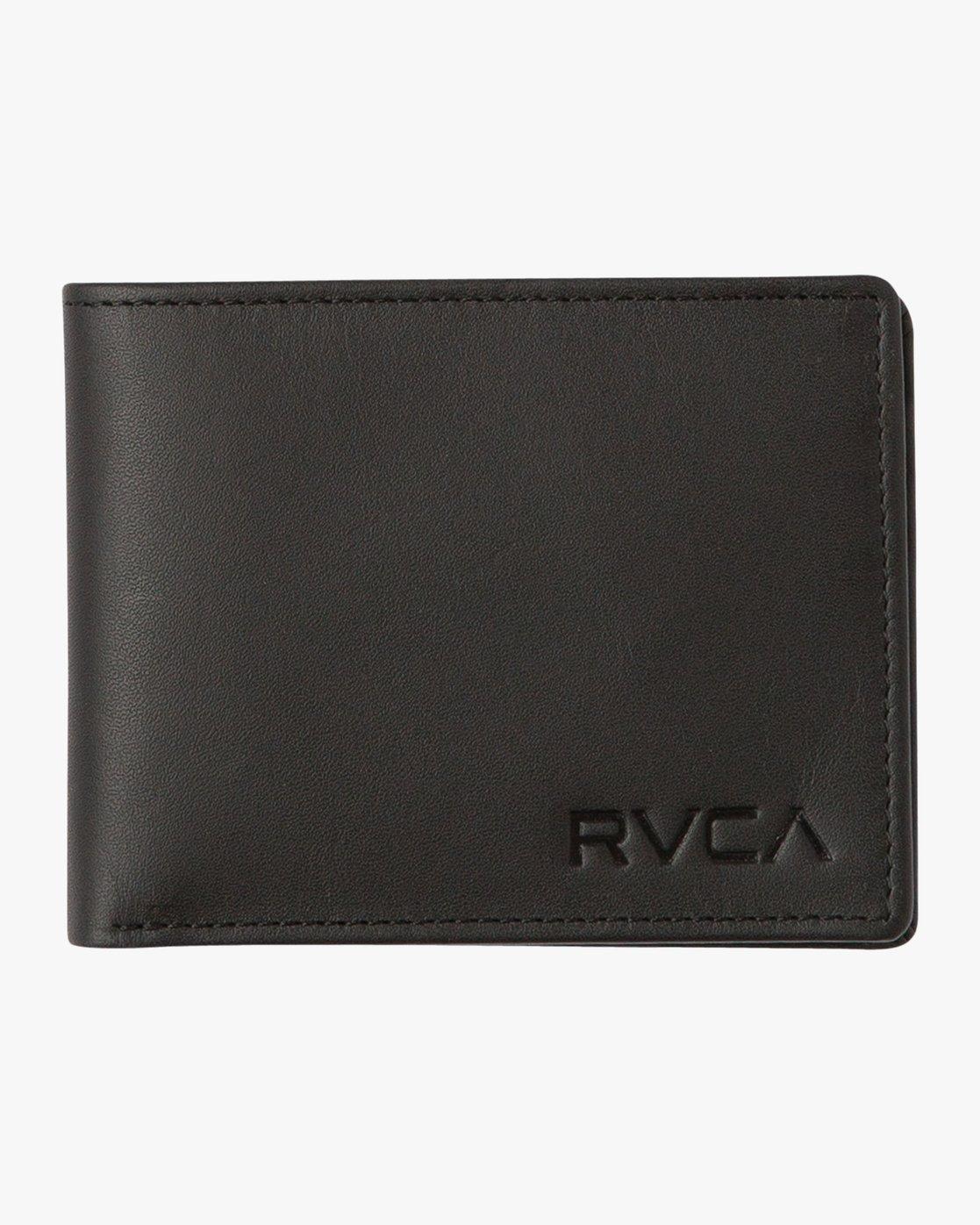 0 Crest Bifold Wallet Black MAWAQRCB RVCA