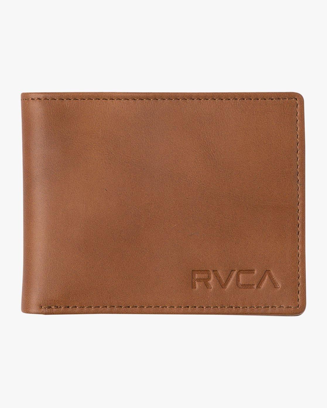 0 Crest Bifold Wallet Beige MAWAQRCB RVCA