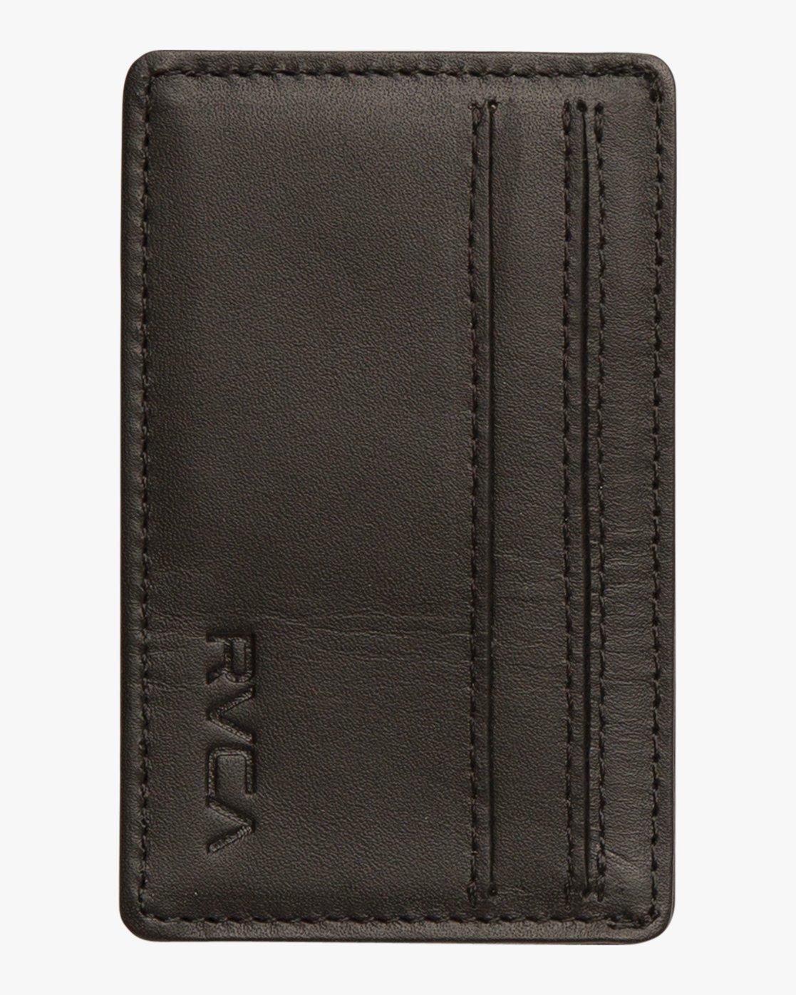 3 Clean Card Wallet Black MAWAQRCW RVCA